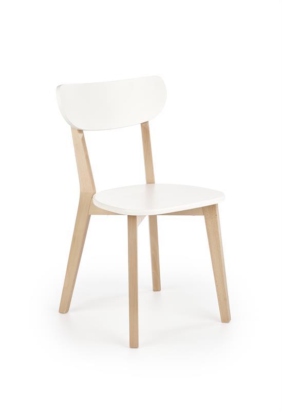 BUGGI stolička prírodná / biela