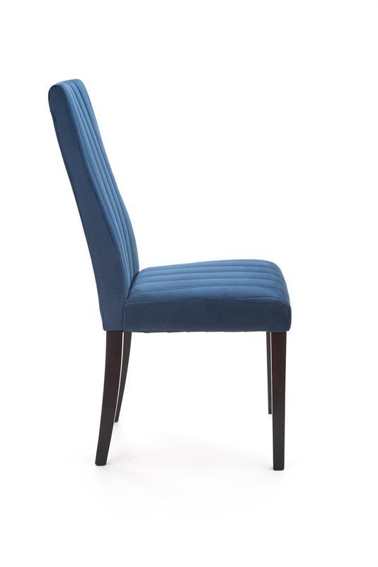 DIEGO 2 jedálenská stolička čierna / čal. zamat prešívané pásy - MONOLITH 77 (granátová)