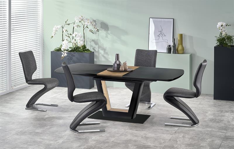 FARREL rozkladací stôl čierna / orech