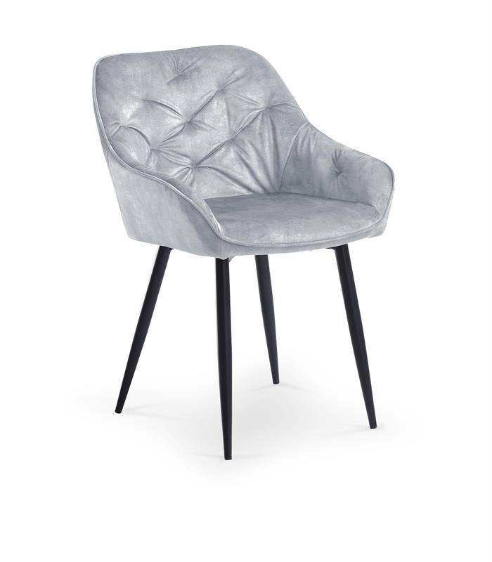 K418 stolička šedá