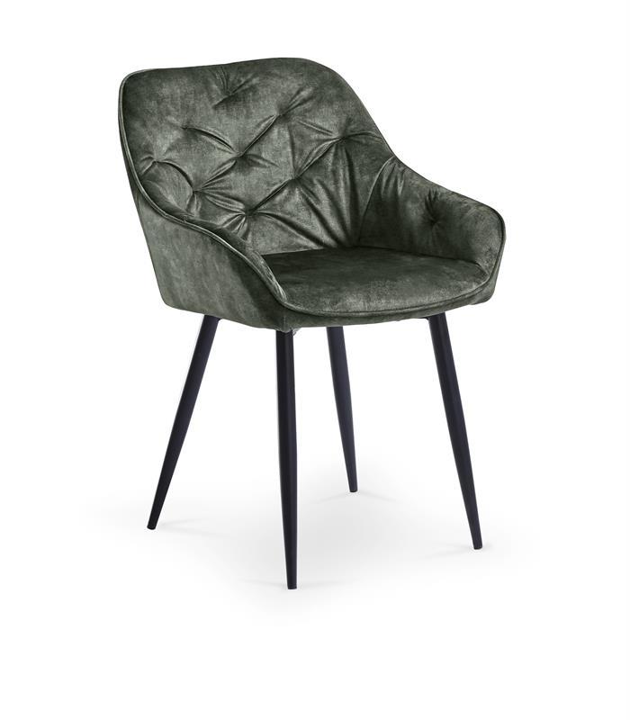 K418 stolička tmavo zelená