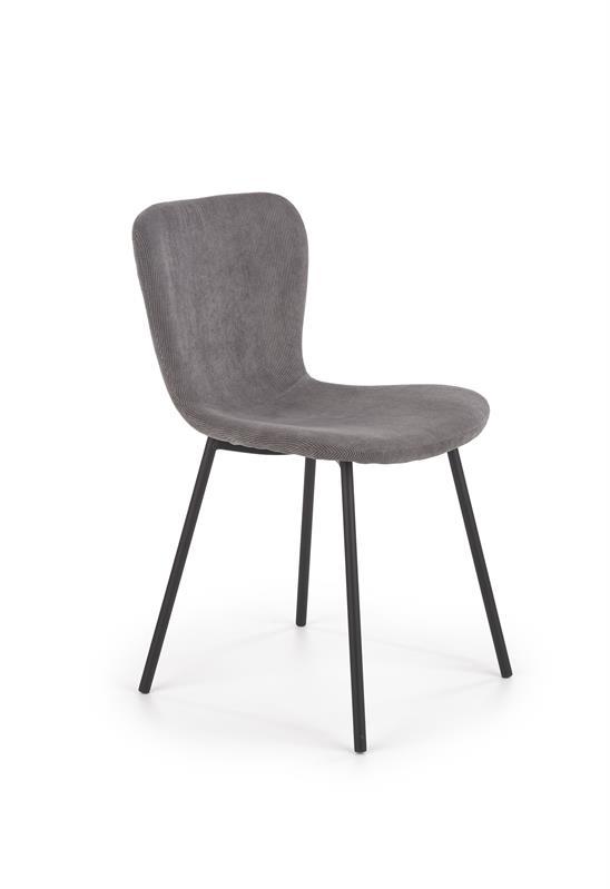 K414 stolička šedá