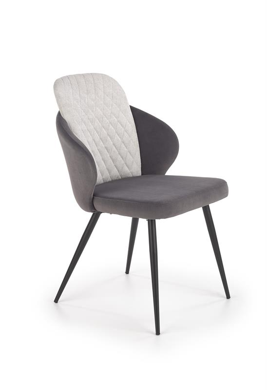 K408 stolička svetlo šedá / tmavo šedá