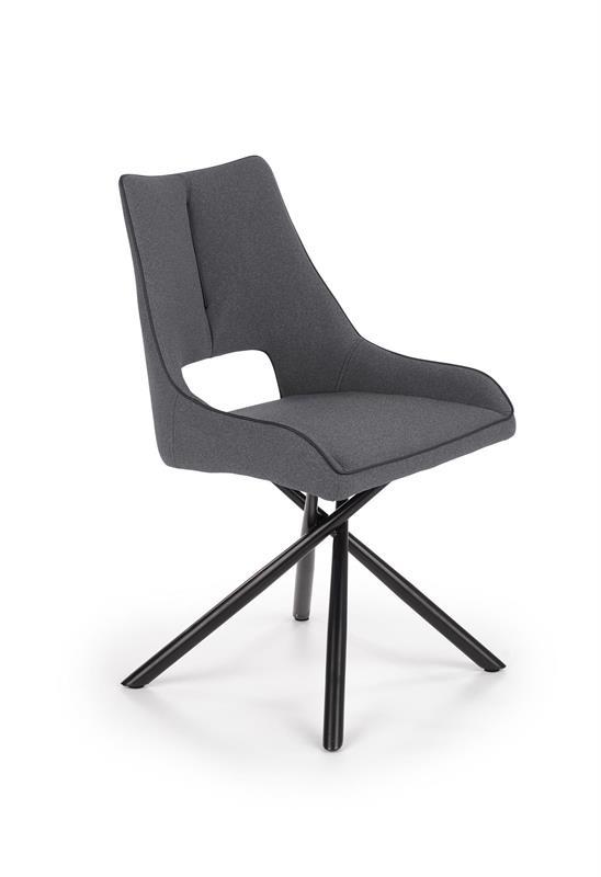 K409 stolička šedá