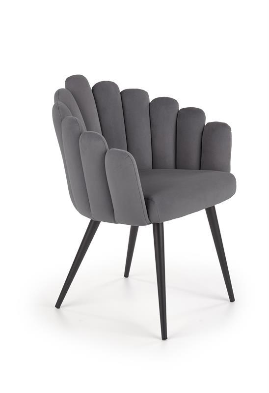 K410 stolička šedá velvet