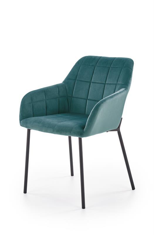 K305 stolička čierna / tmavo zelená