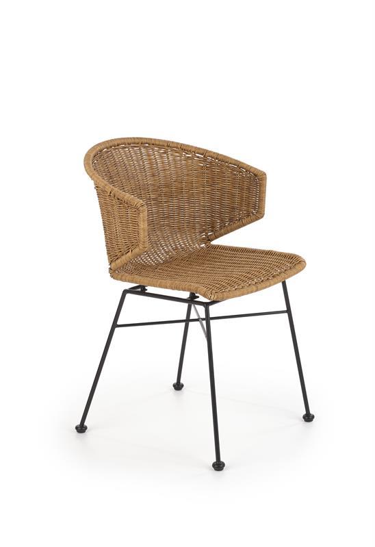 K407 stolička prírodná / čierna
