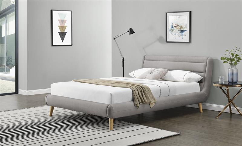 ELANDA 180 cm posteľ svetlo šedá