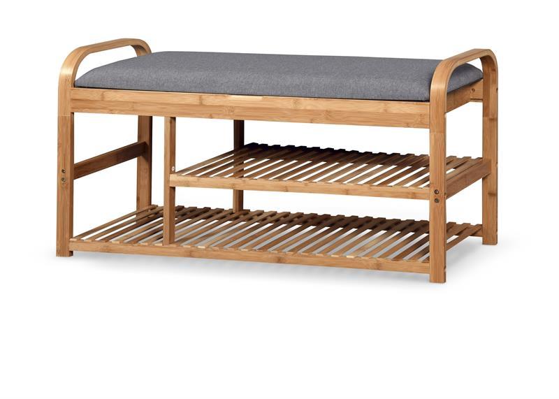 ST13 lavička / botník bambus - šedá