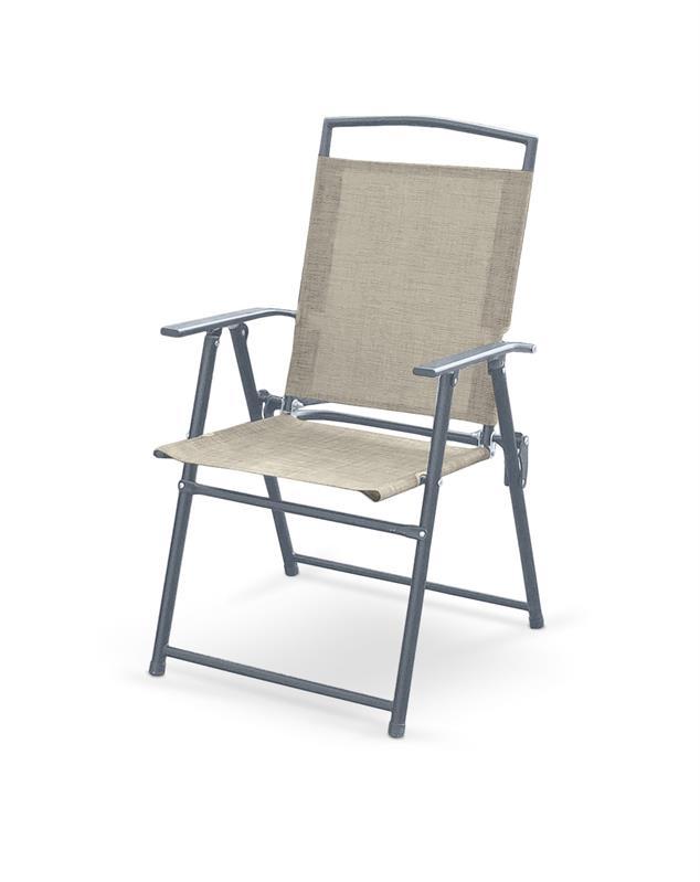 ROCKY stolička skladacia šedá / tm. šedá