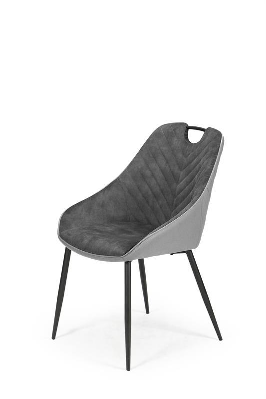K412 stolička tmavo šedá / svetlo šedá