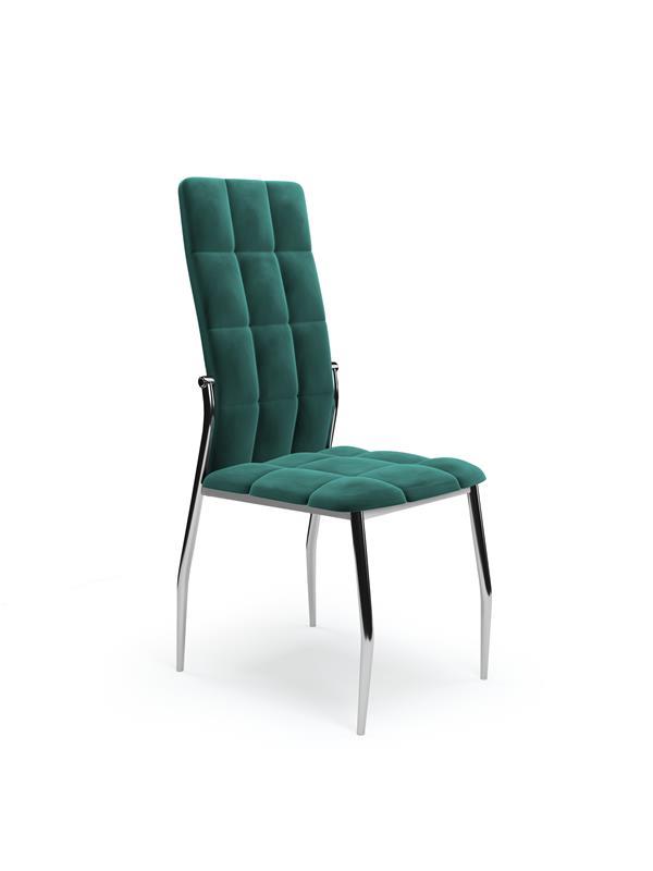 K416 stolička tmavo zelená velvet
