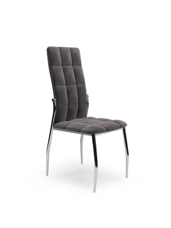 K416 stolička šedá velvet