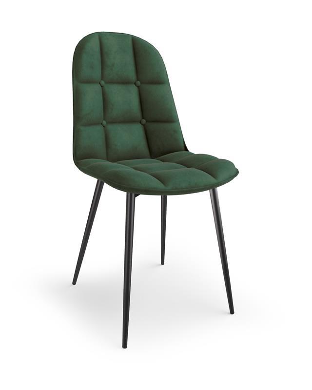 K417 stolička tmavo zelená velvet