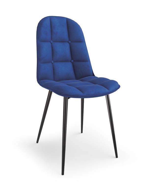 K417 stolička granátová velvet