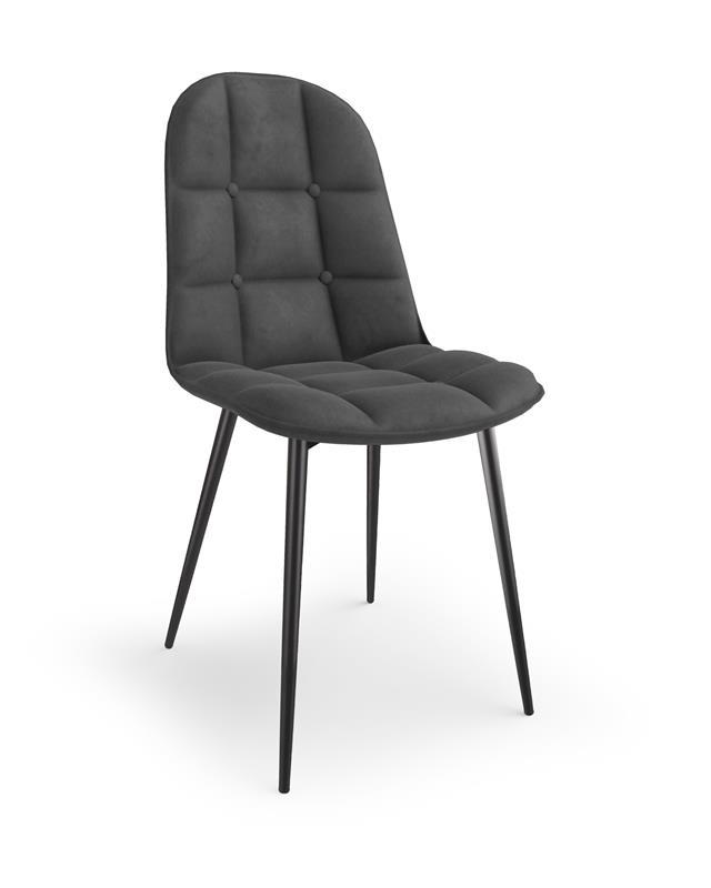 K417 stolička šedá velvet