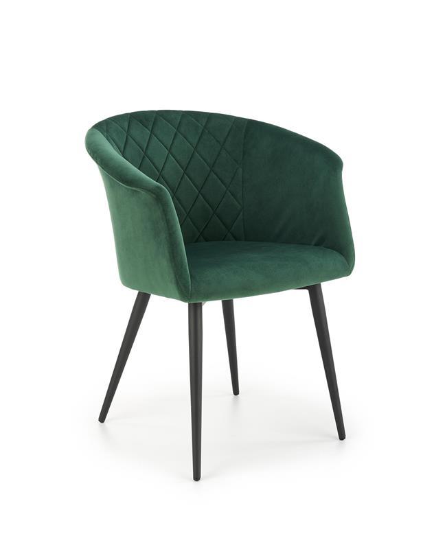 K421 stolička tmavo zelená