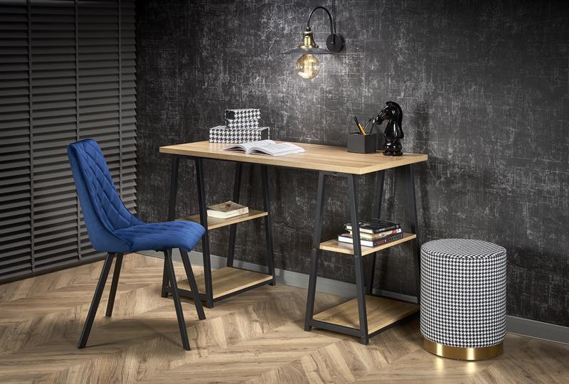 B44 PC stôl dub sonoma / čierny