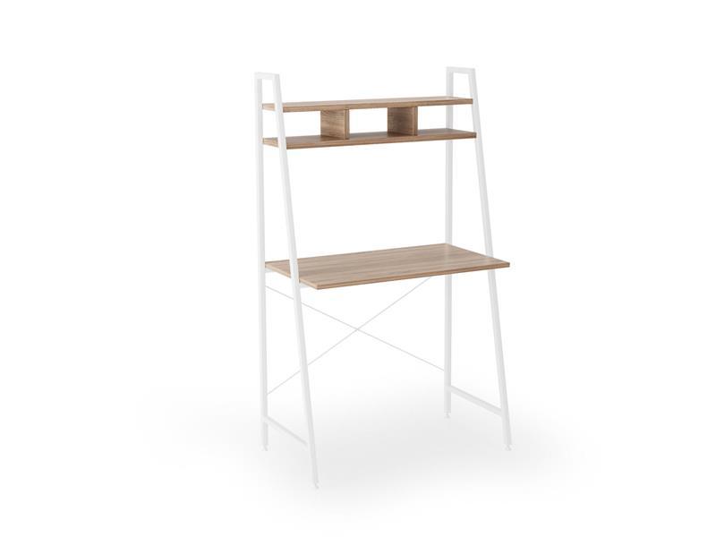 NARVIK B2 PC stôl biely / dub sonoma