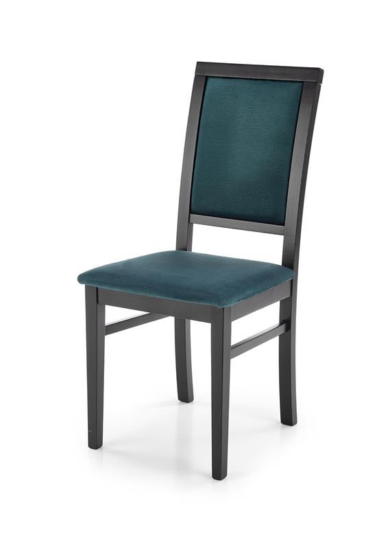 SYLWEK1 stolička čierna / čal: velvet Monolith 37 (tmavo zelená)