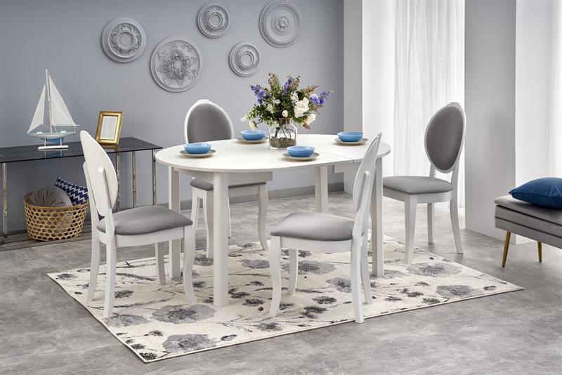 RINGO stôl biely (102-142x102x76 cm)