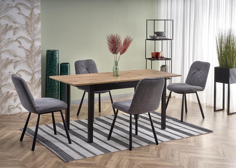 GREG rozkladací stôl dub wotan/čierny