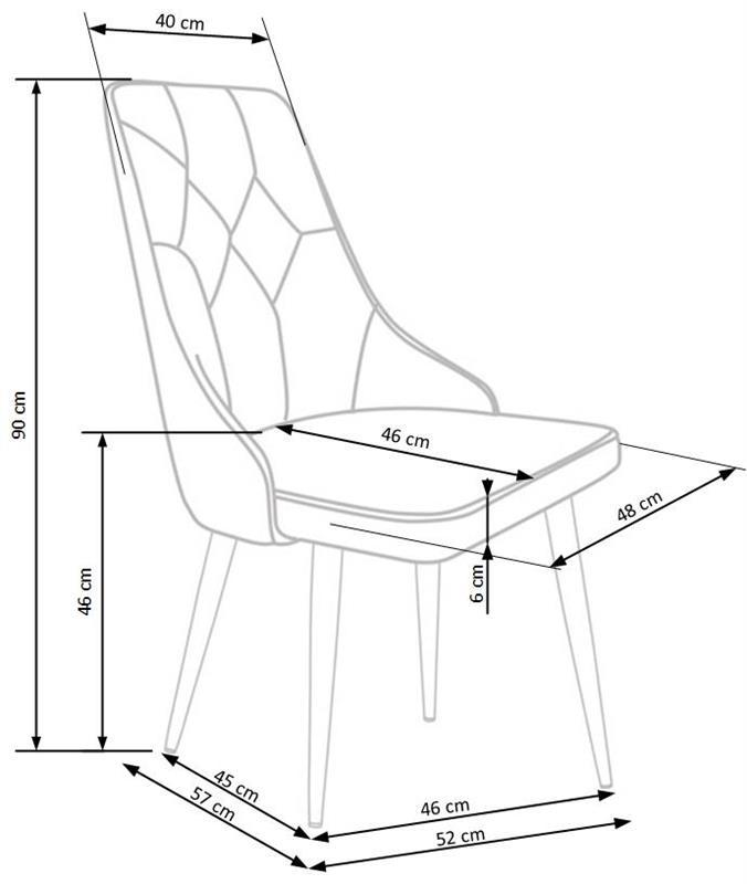 K365 stolička bordová
