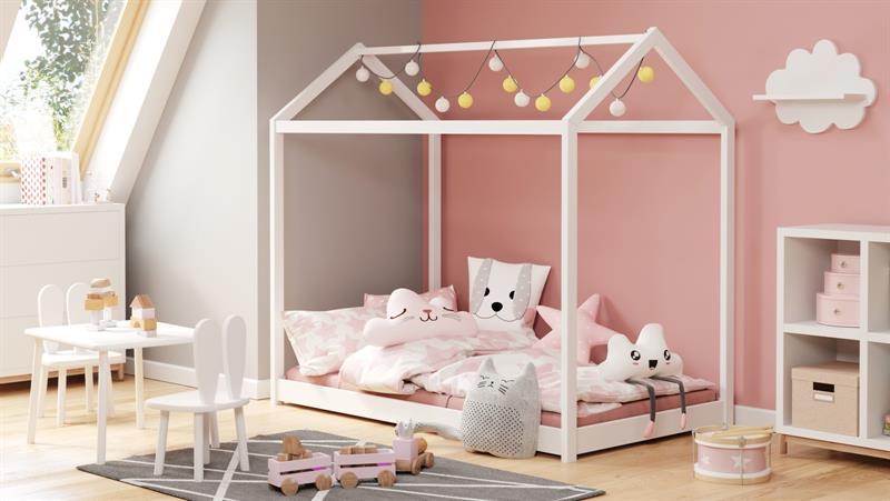 YOGI biela posteľ 80x160