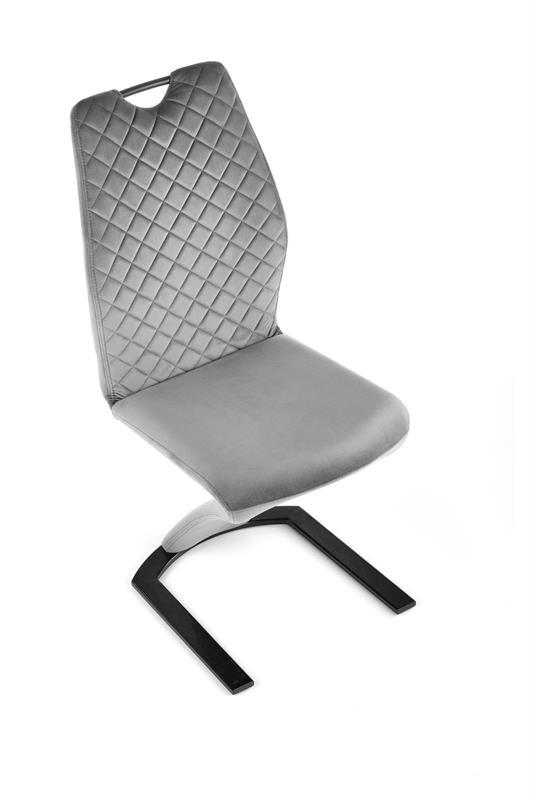 K442 stolička šedá