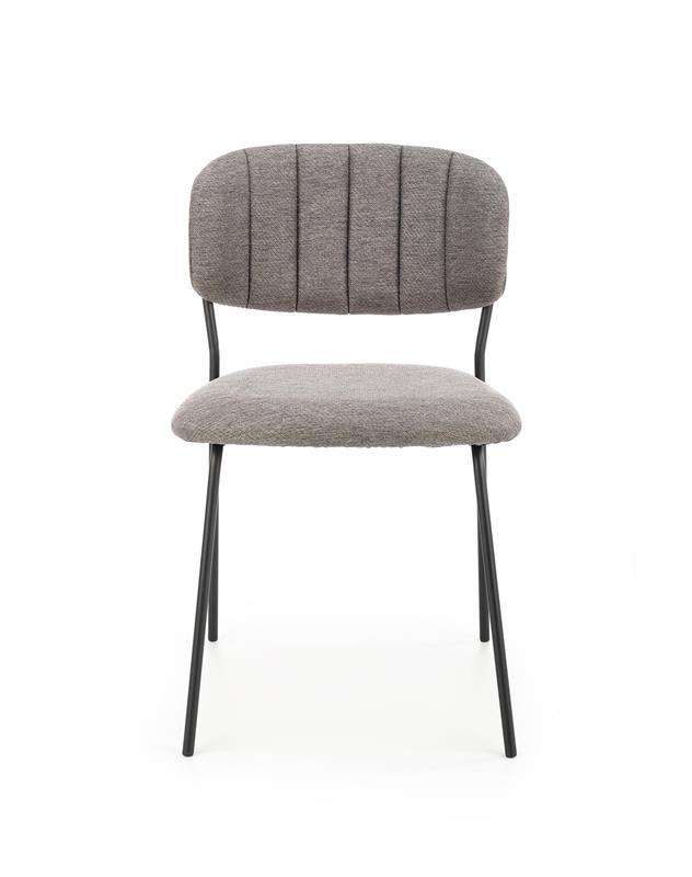 K433 stolička šedá