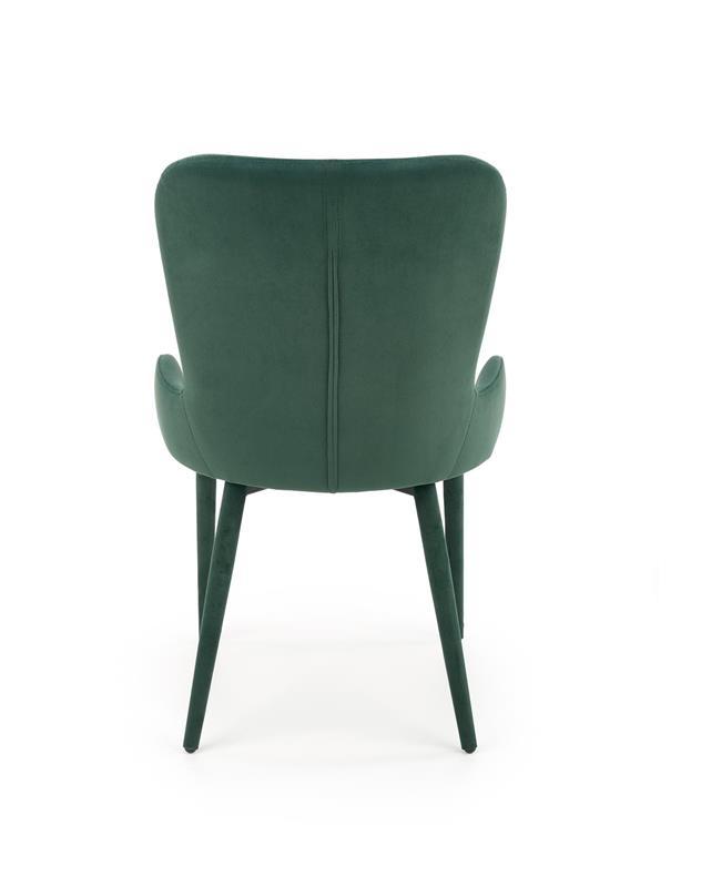 K425 stolička tmavo zelená