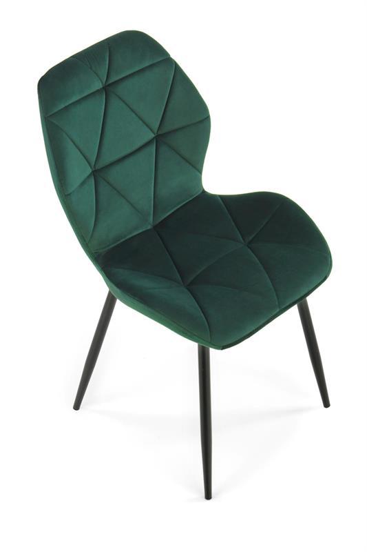 K453 stolička tmavo zelená