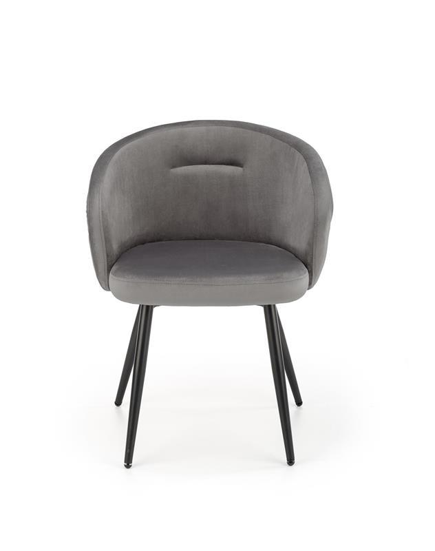 K430 stolička šedá