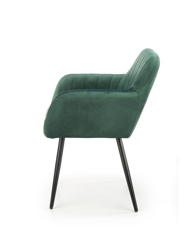 K429 stolička tmavo zelená