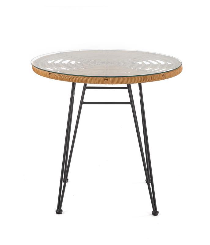 FALCON stôl prírodný-čierny