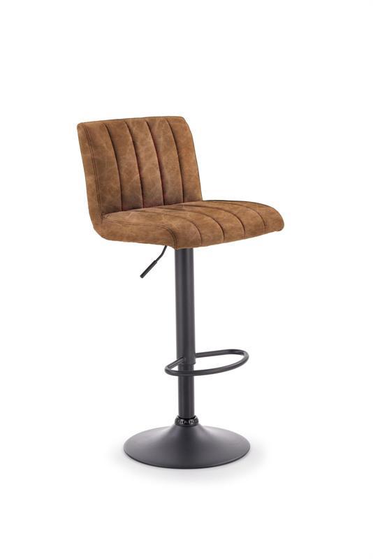 H89 barová stolička konštrukcia - čierna, čalúnenie - hnedé