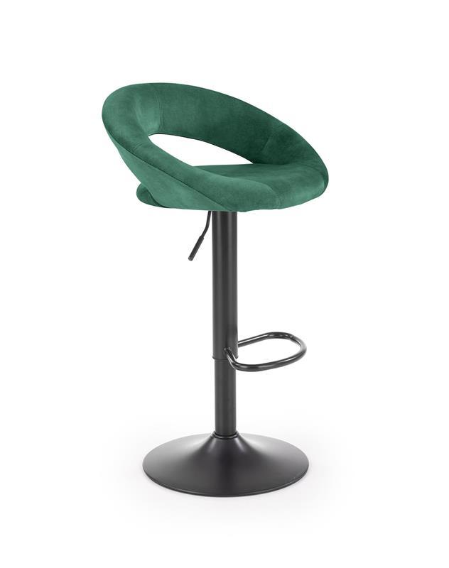H102 barová stolička tmavo zelená