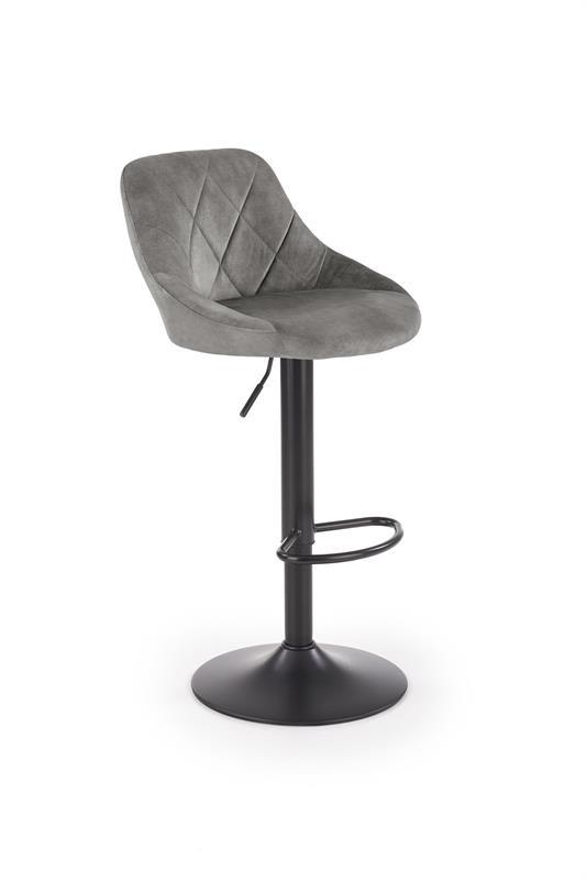 H101 barová stolička šedá