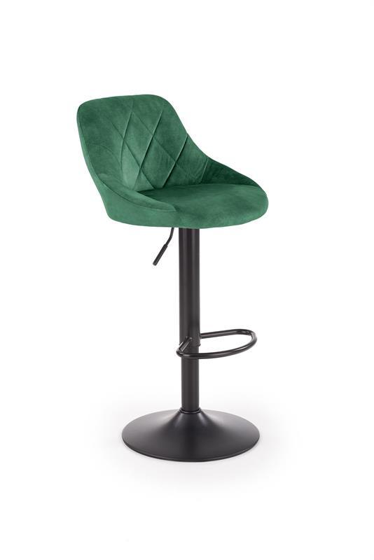 H101 barová stolička tmavo zelená