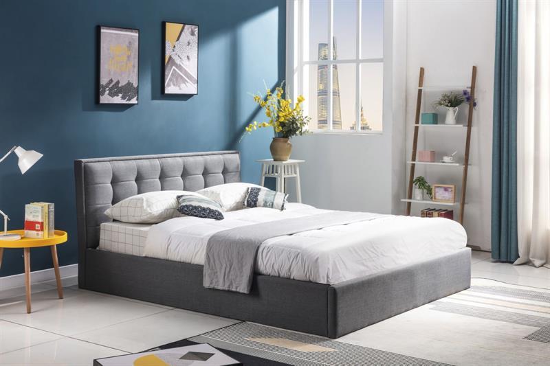 PADVA 120cm posteľ s úložným priestorom šedá