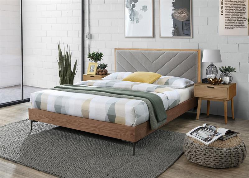 MARGARITA 160 posteľ šedá/prírodná