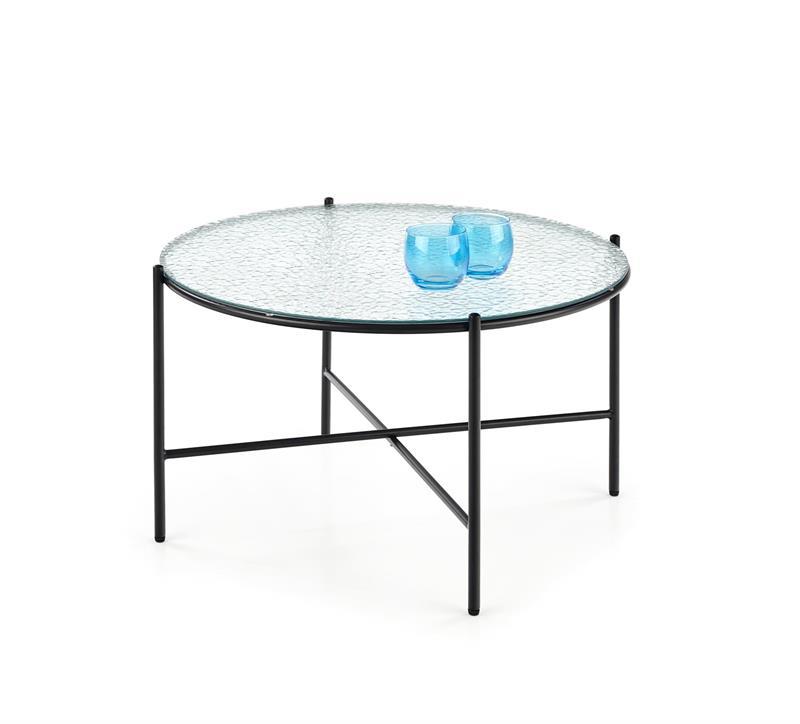 ROSALIA konferenčný stolík bezfarebný - čierny