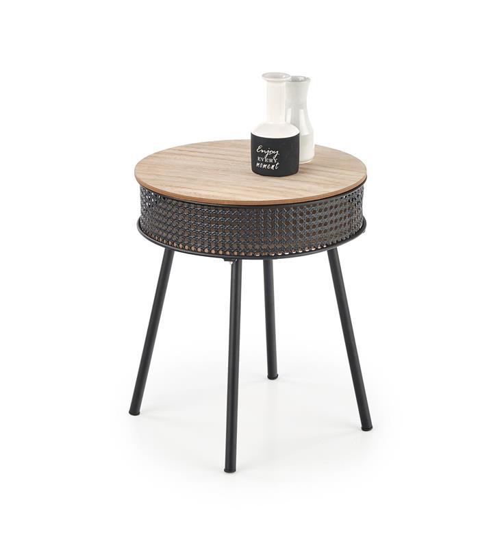 TROFEA konferenčný stolík prírodný/čierny