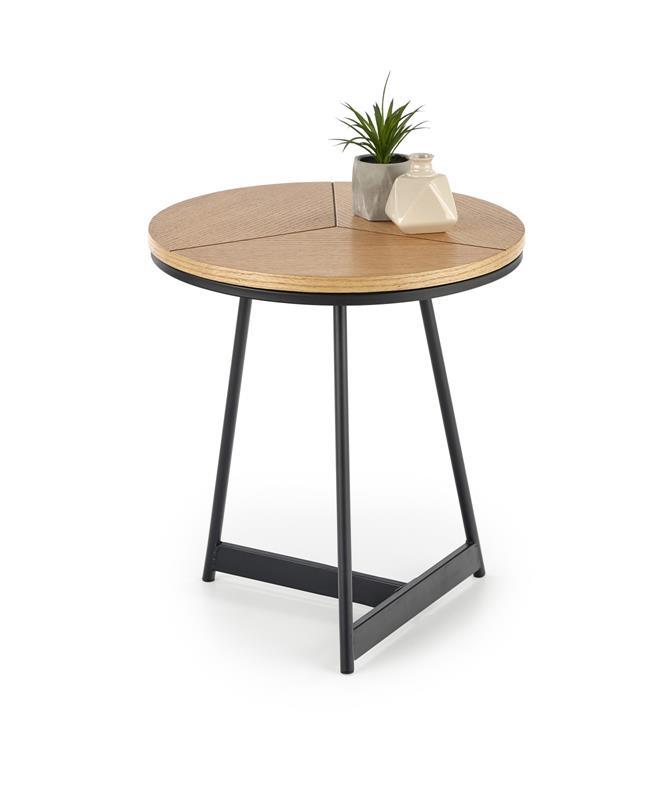 KARIDA-S konferenčný stolík dub prírodný/čierny