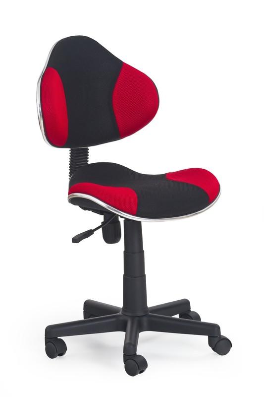 FLASH detská stolička čierno-červená