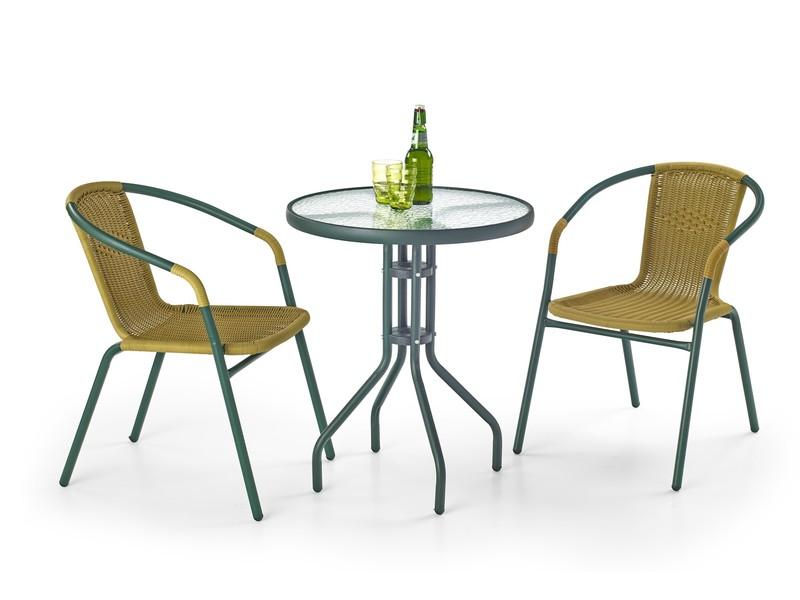 GRAND 60 stôl tmavozelený