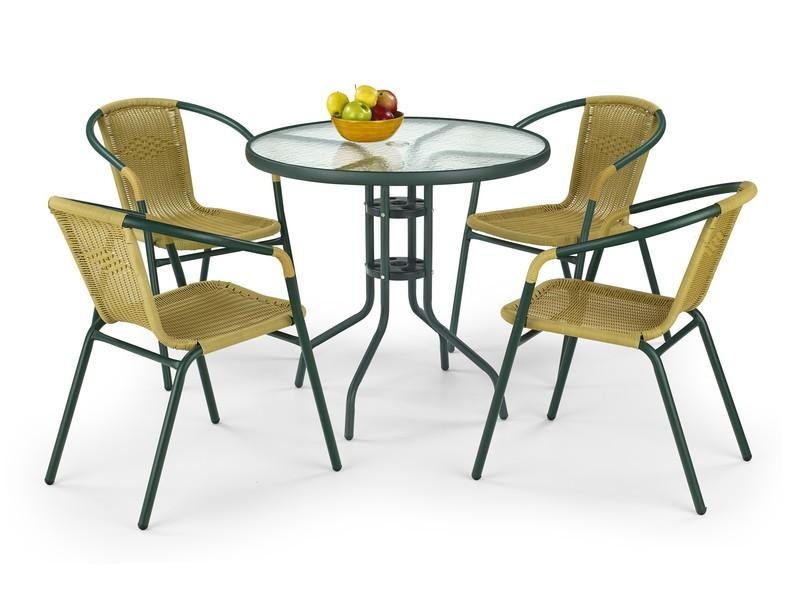 GRAND 80 stôl tmavozelený