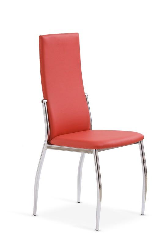 K3 stolička chróm/červená