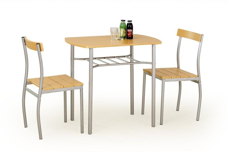 LANCE zostava stôl + 2 stoličky jelša