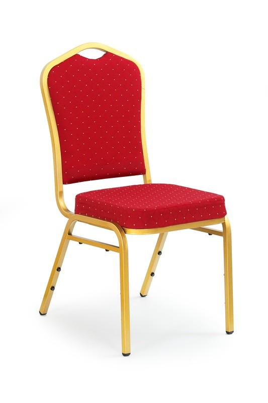 K66 stolička bordowá,  zlatá